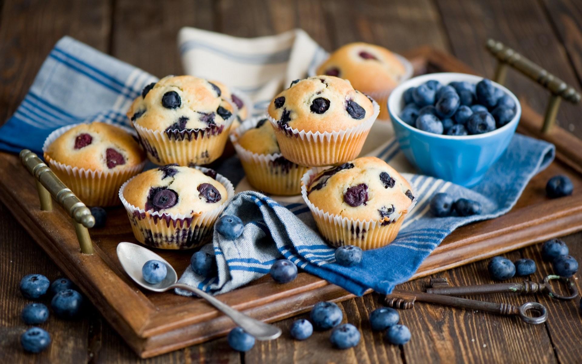 Blueberry Muffins Wallpaper 20764