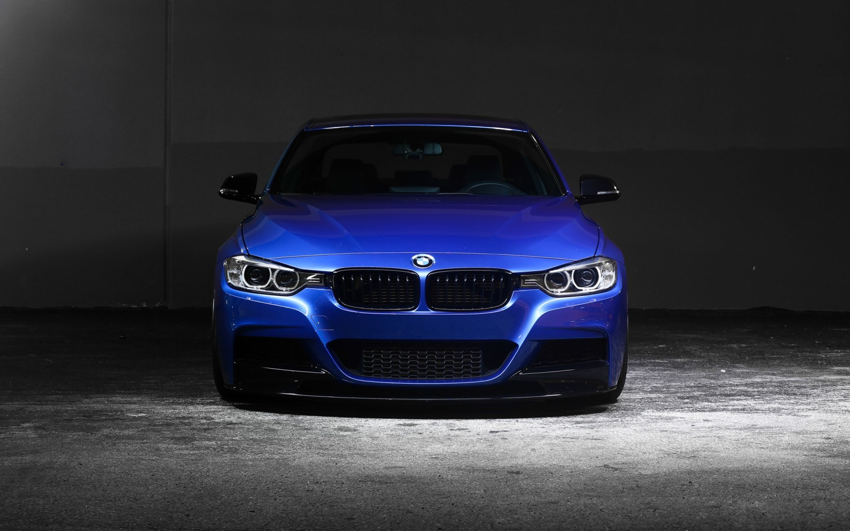 BMW 3 Series 335i F30 Blue Car Front