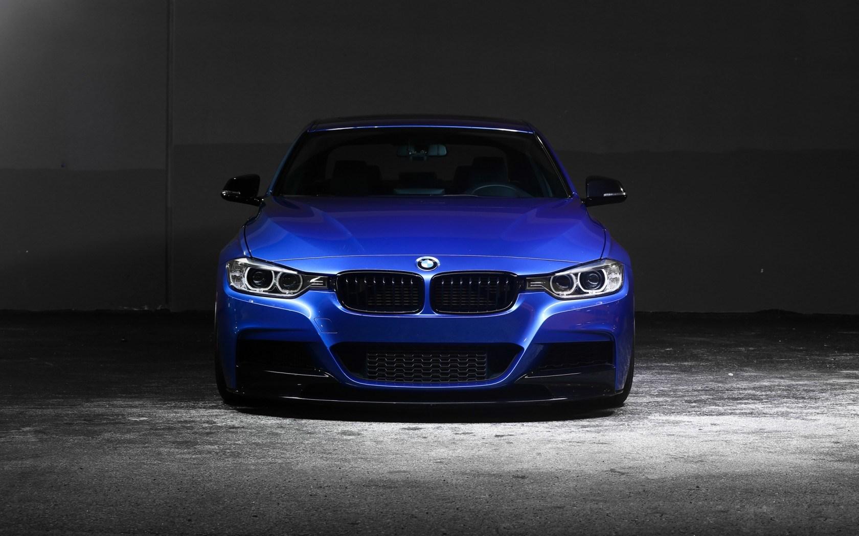 BMW 3 Series 335i F30 Blue Car Front