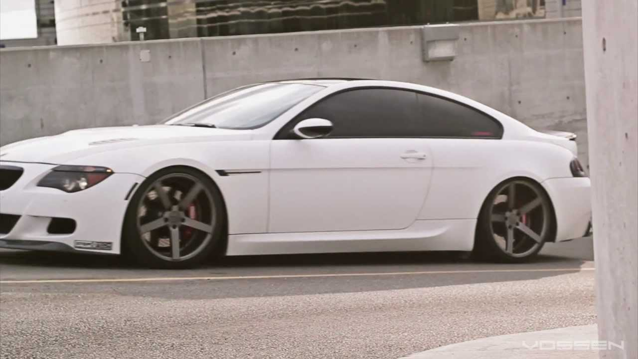 "BMW 645 on 20"" Vossen VVS-CV3 Concave Wheels / Rims"