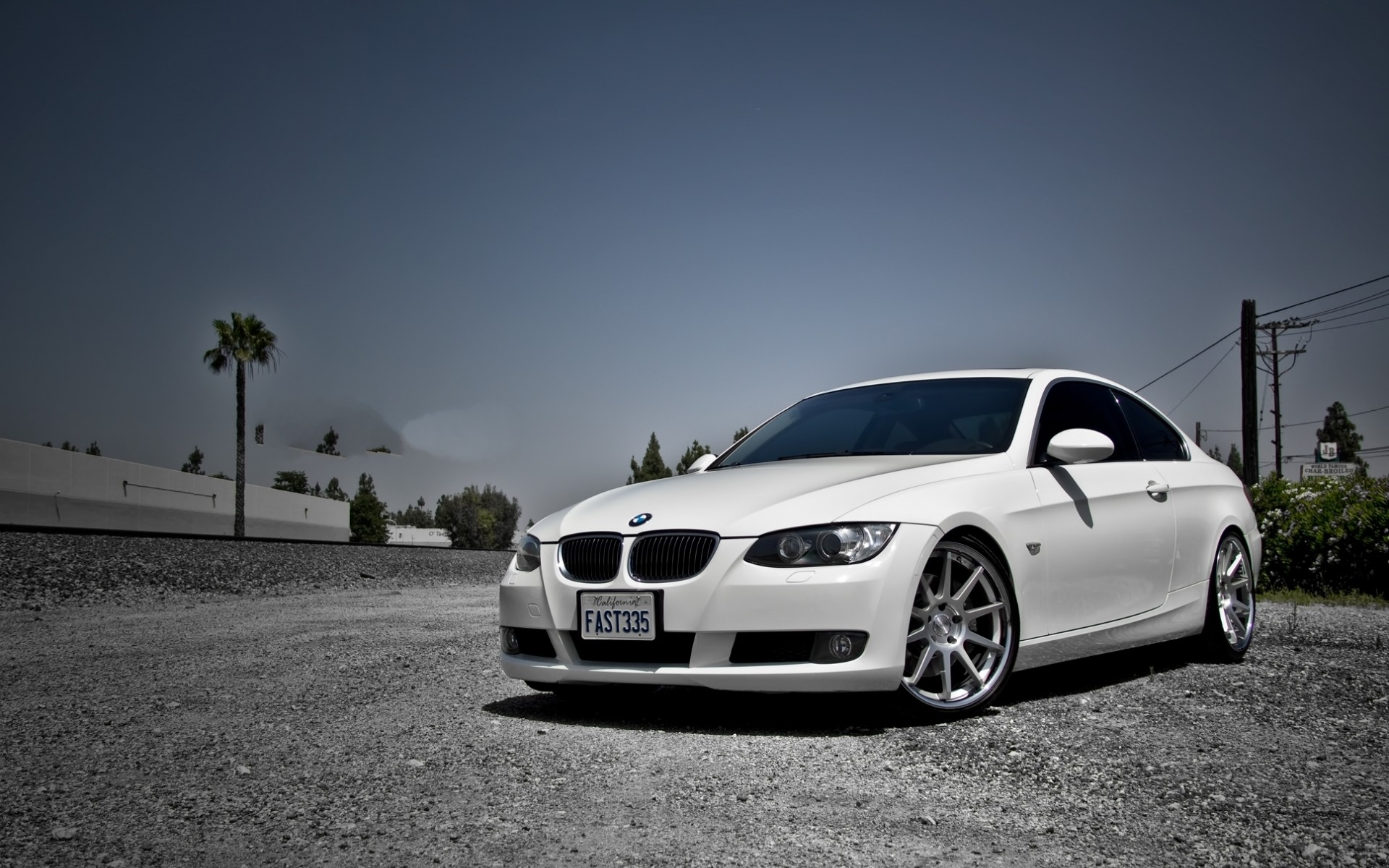 BMW E90 3 Series White Car