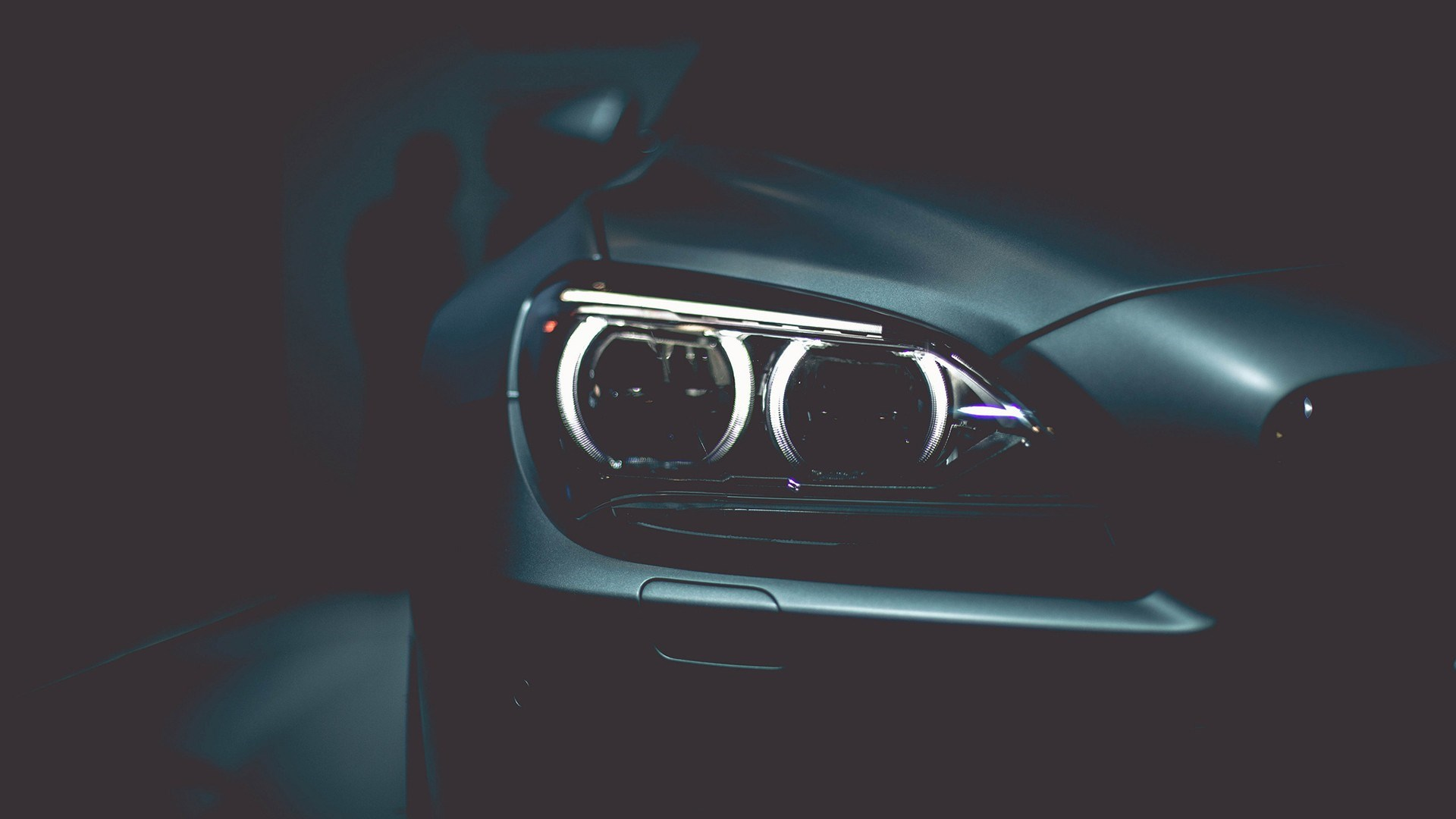 BMW Headlight Close-Up