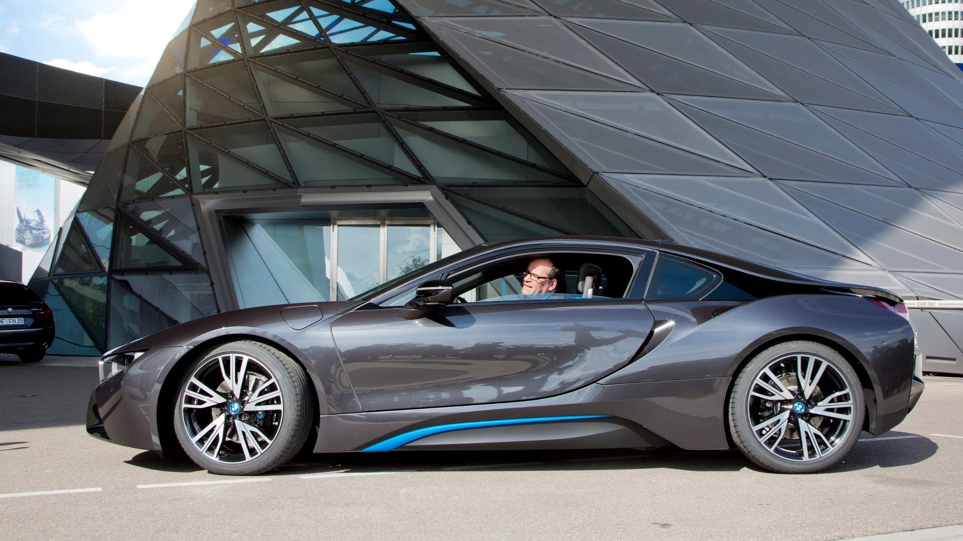 "The Top Gear crew called the BMW i8 a ""glorious statement for an exciting and positive future."" They add: ""The i8 never places its technology in the way of ..."