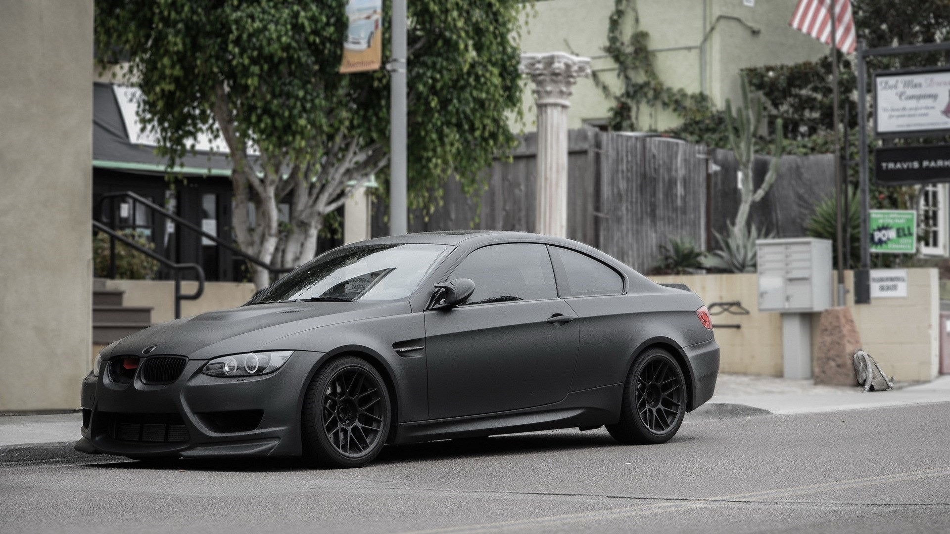 BMW M3 E92 Matte Grey Street Parking