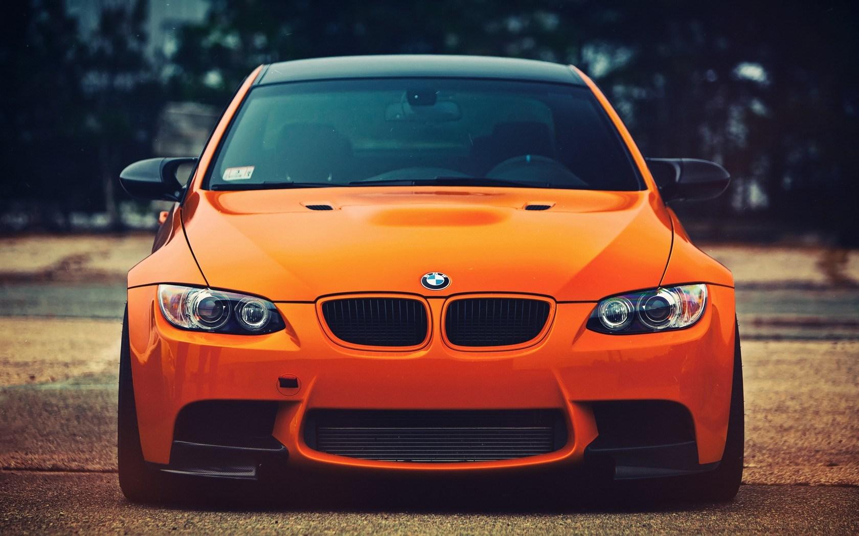 BMW M3 Orange Car
