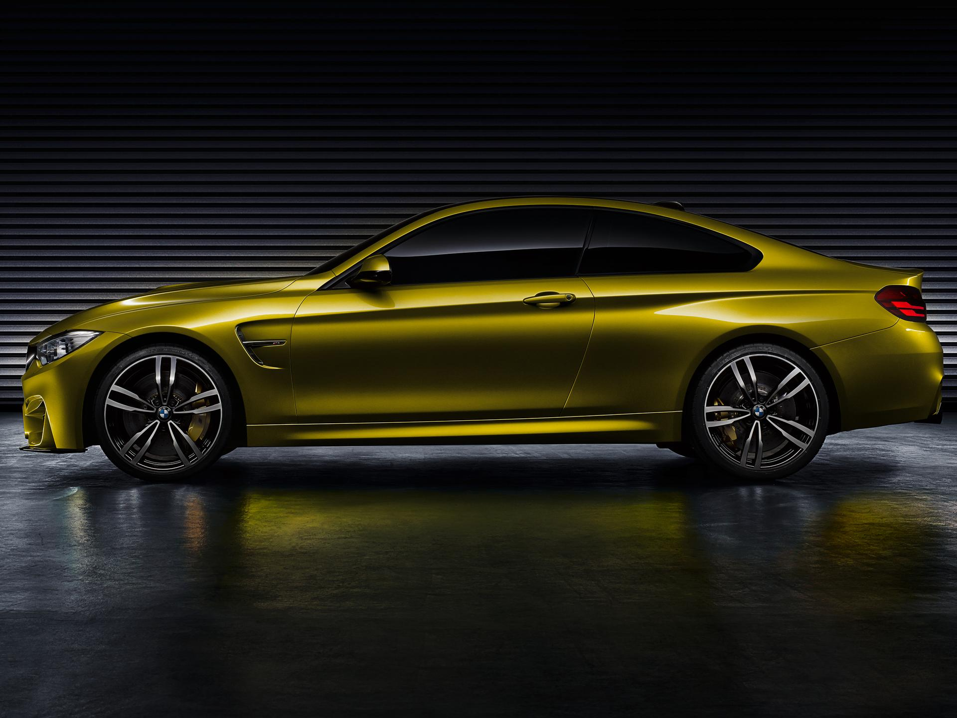 "The BMW Concept M4 Coupe, finished in the colour ""Aurum Dust"" exclusively developed for this model, continues with BMW M's design language ..."