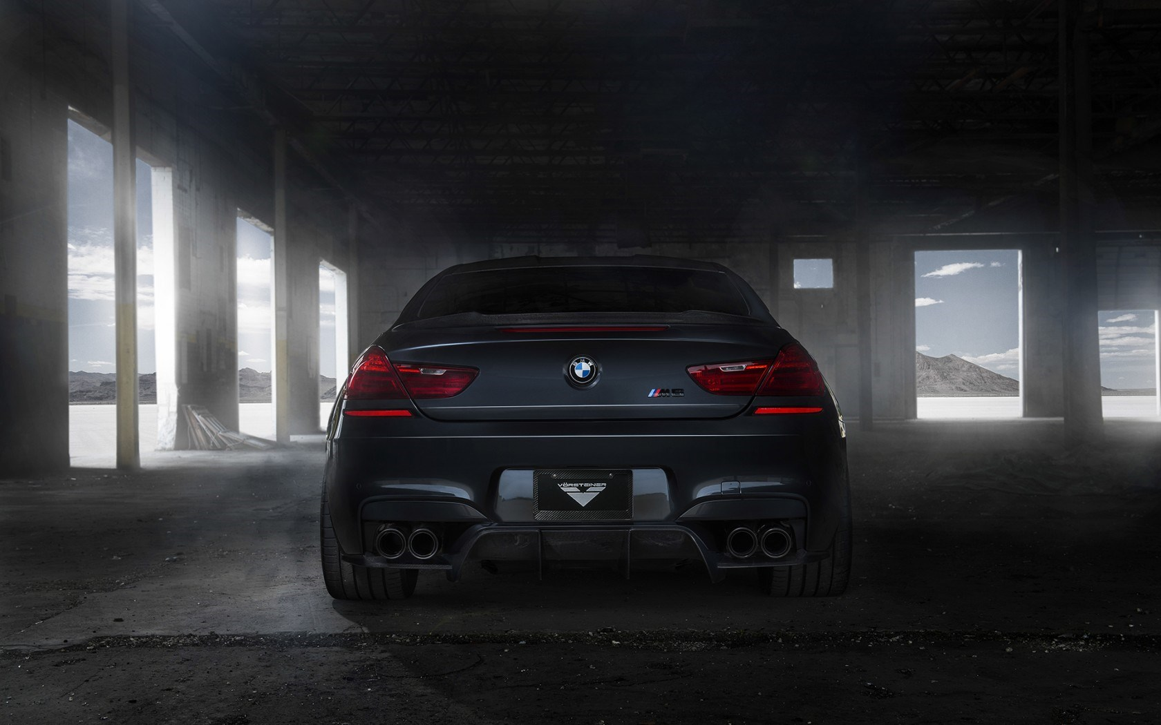BMW M6 Coupe F13 Black Tuning Car Rear