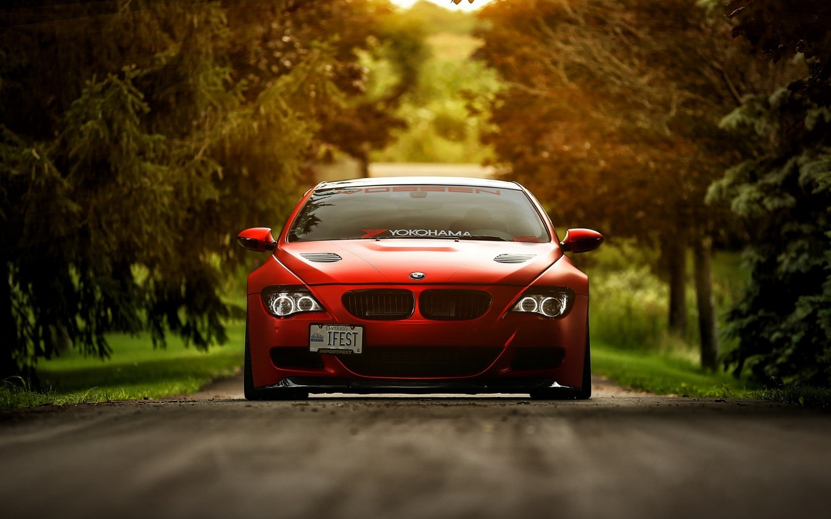 Bmw M6 E63 Red Car Wallpaper 1680x1050 16217