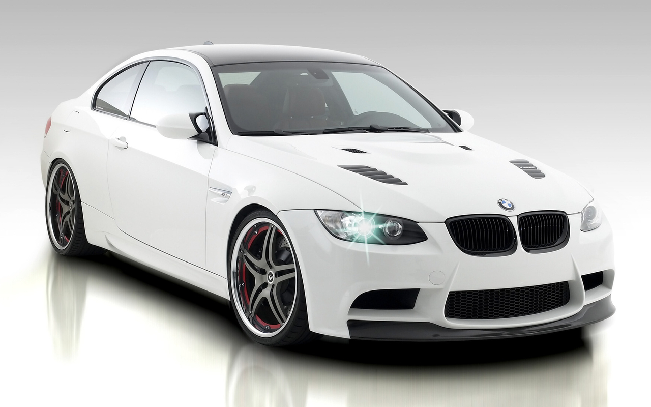 BMW White Car