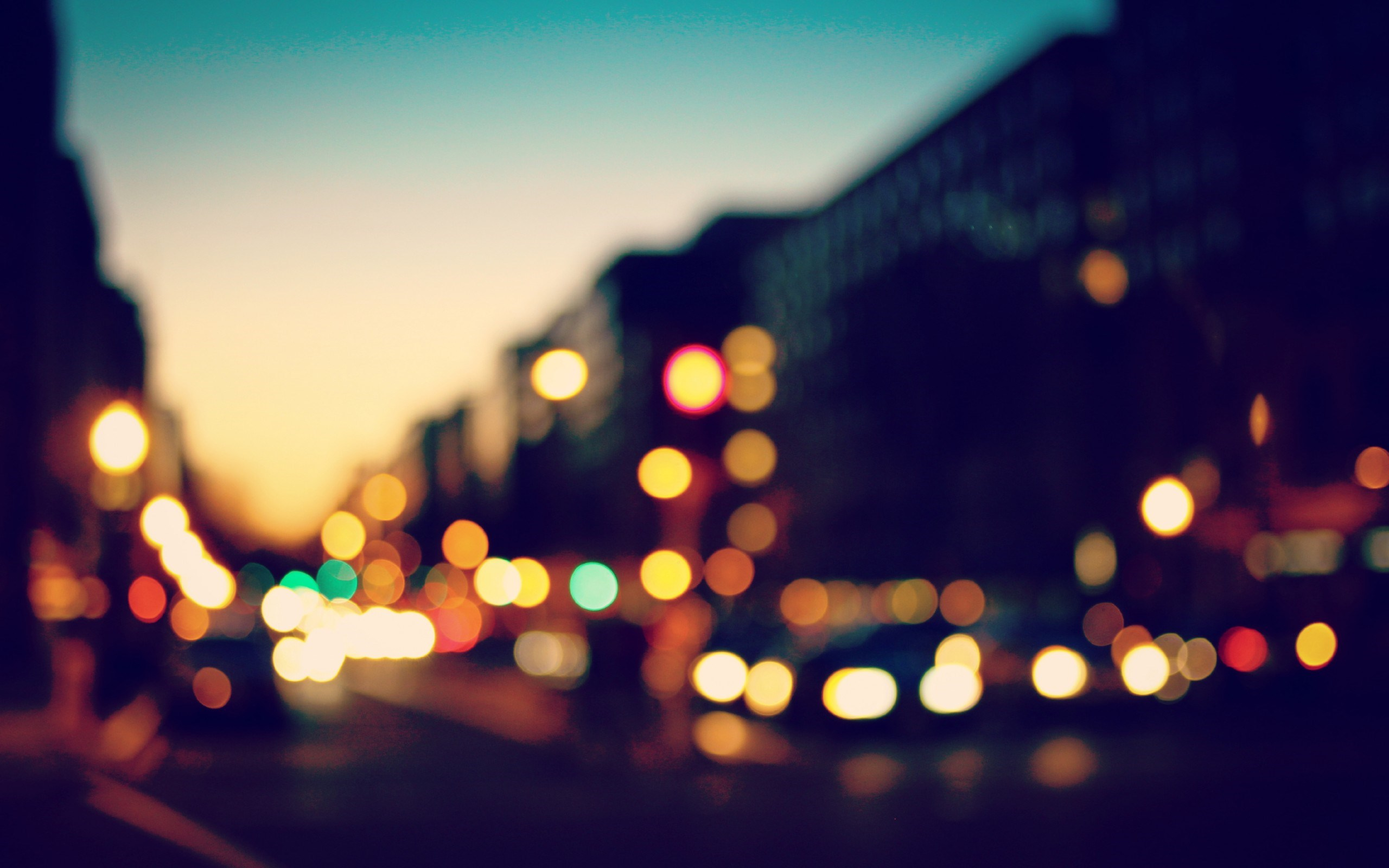 Bokeh Lights Sunset City
