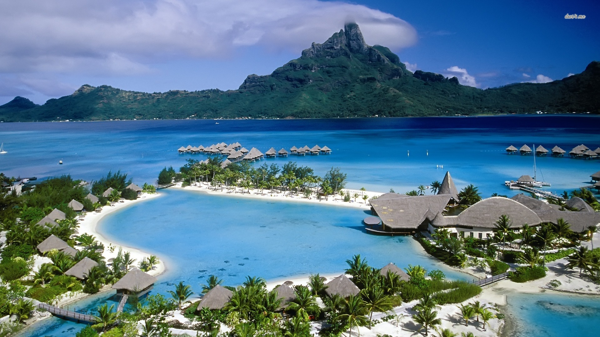 Bora Bora Beach 37 Wallpaper HD