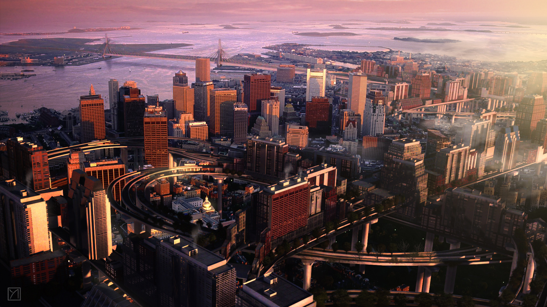 Boston wallpaper 12