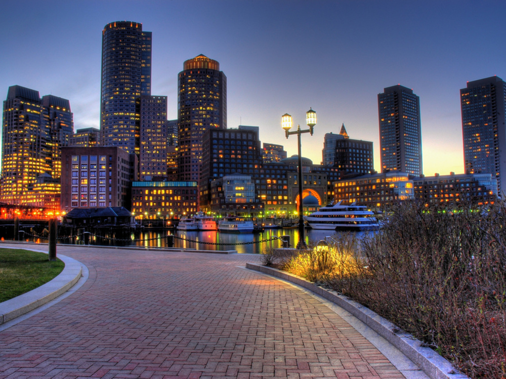 South Boston Waterfront Wallpaper – 1024 x 768 pixels – 488 kB