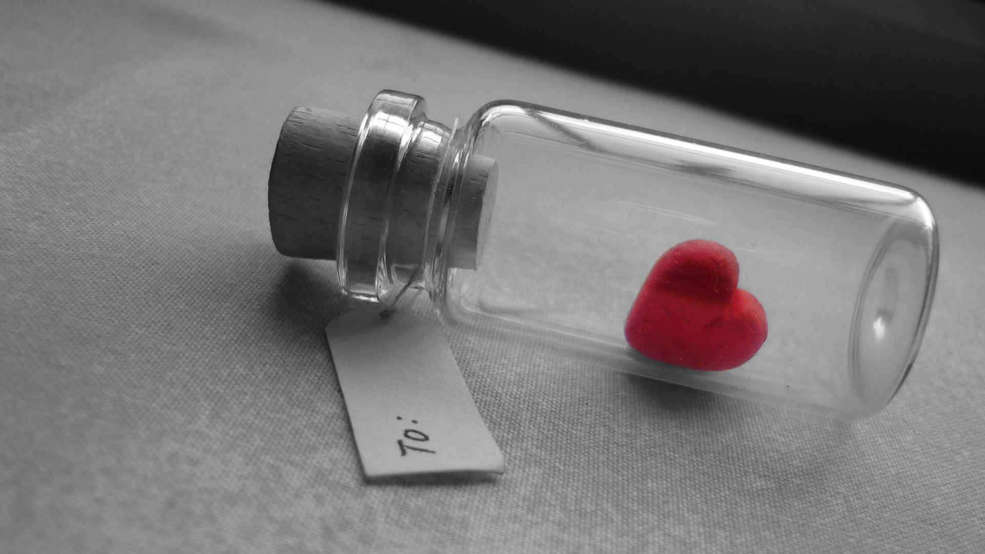 Love Bottle Wallpaper