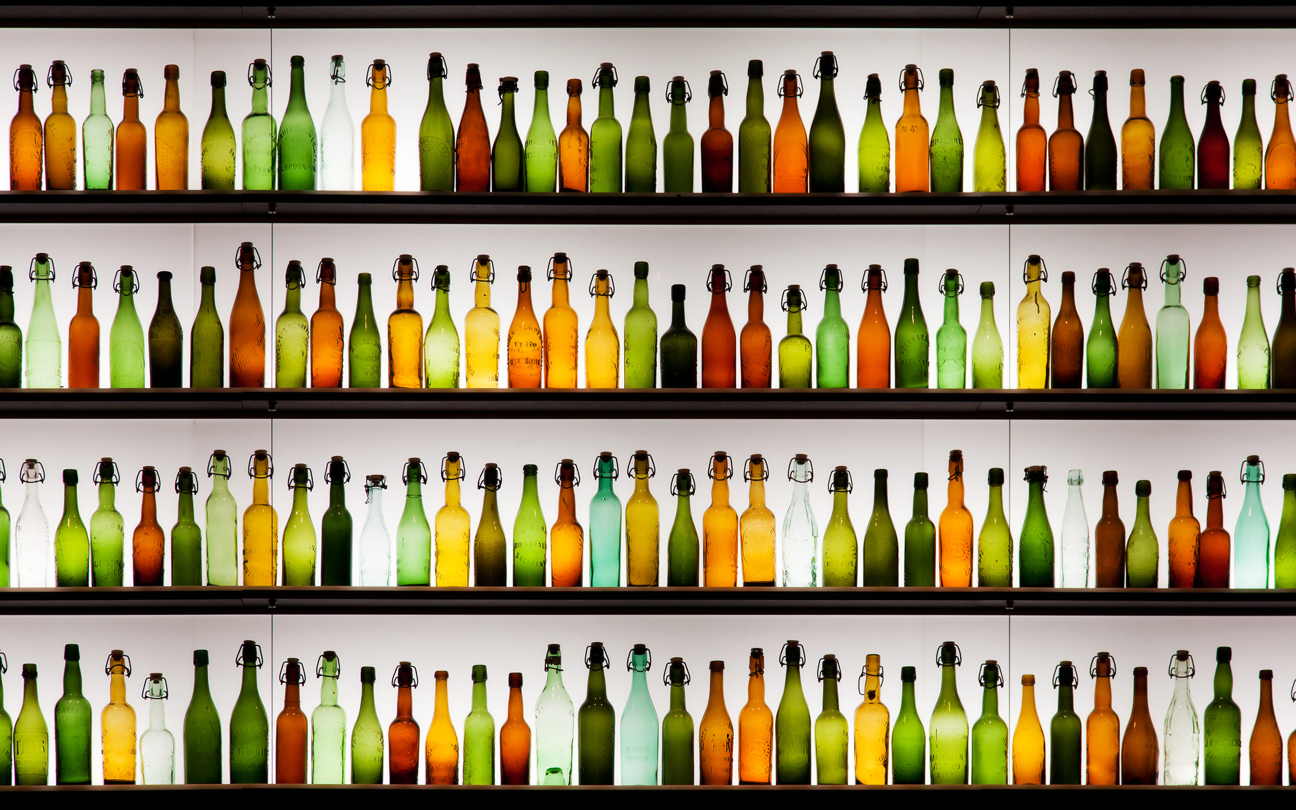 Images and Bottles On The Shelves Wallpapers 2560x1600px