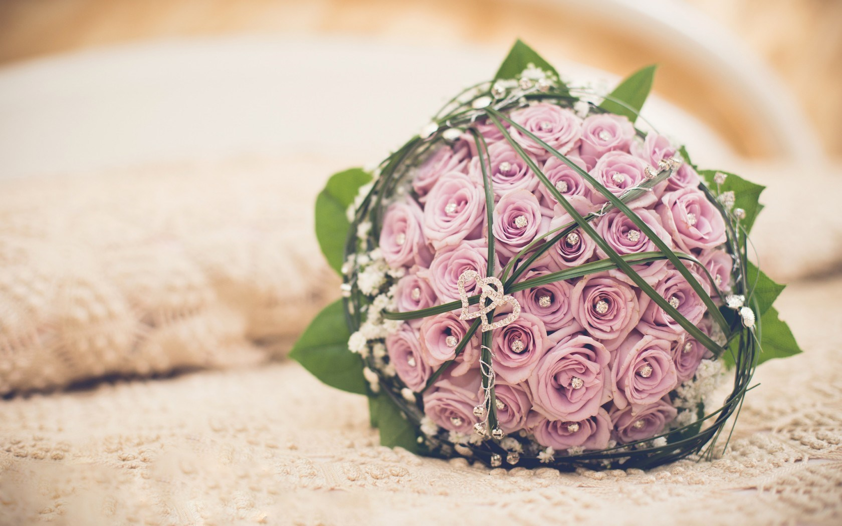 Bouquet Wedding Flowers Roses Hearts Love