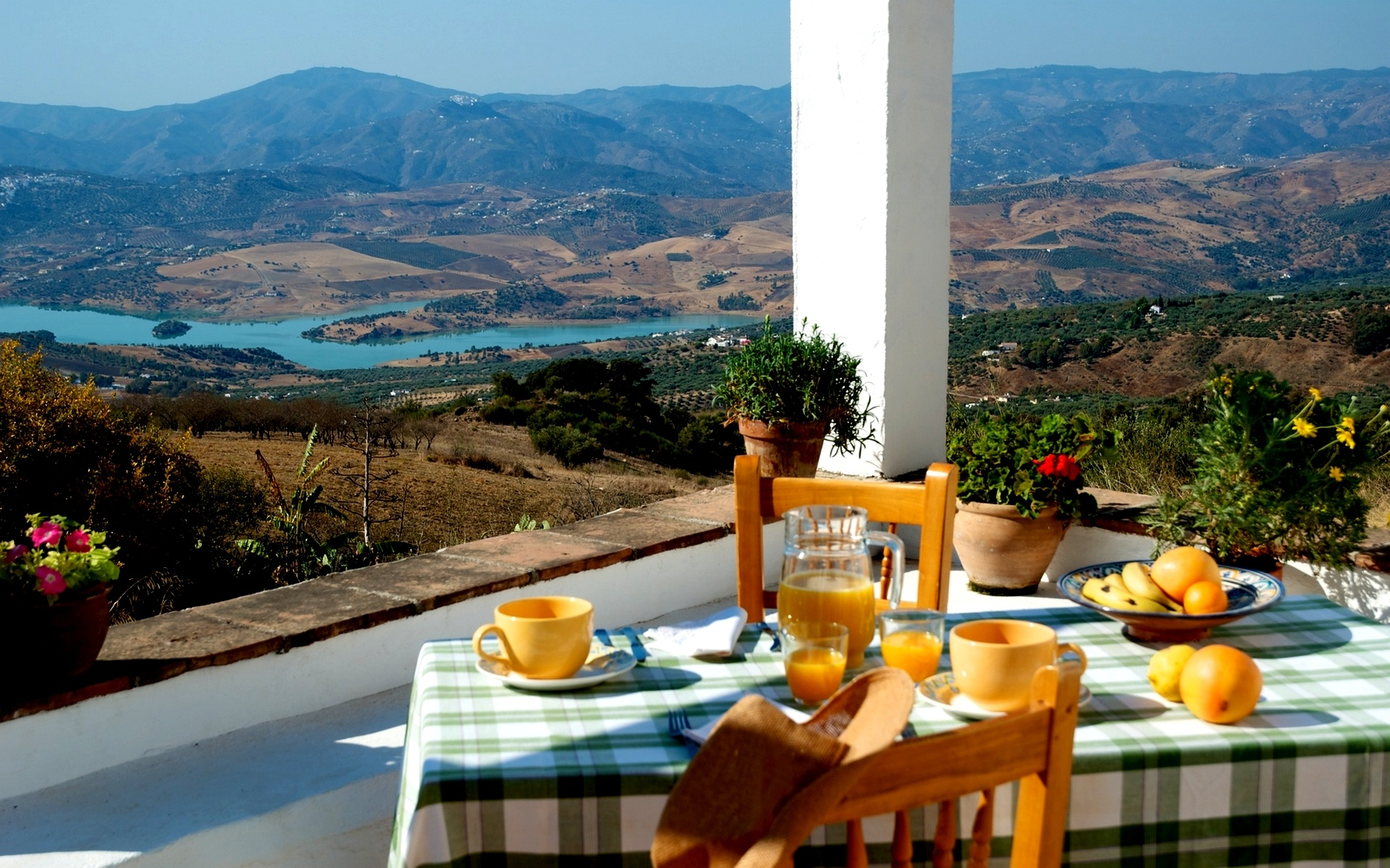 Breakfast Landscape Wallpaper in 1920x1200 Widescreen