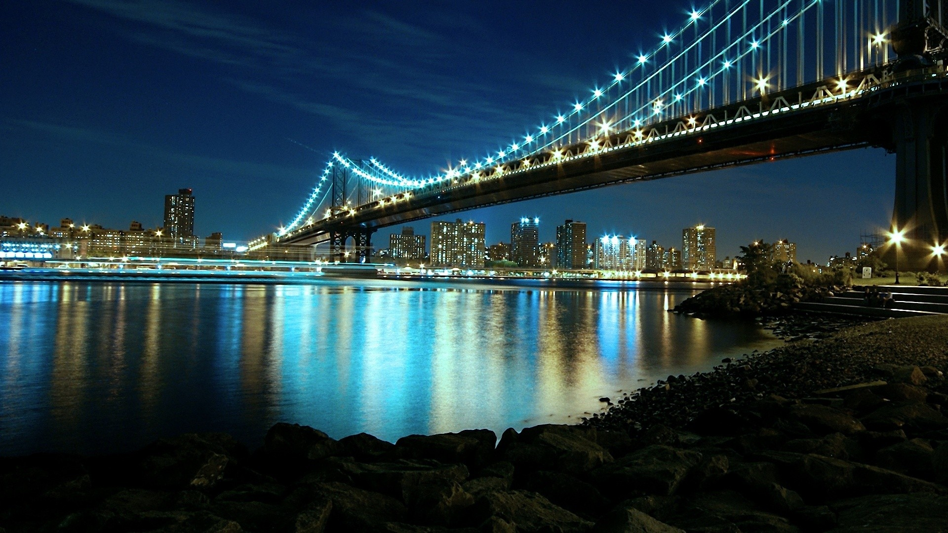 Manhattan Bridge Night Wallpaper Best De
