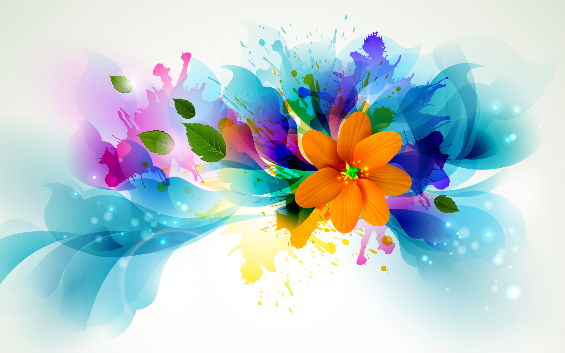 flowers colors abstract vector bright contrast wallpaper