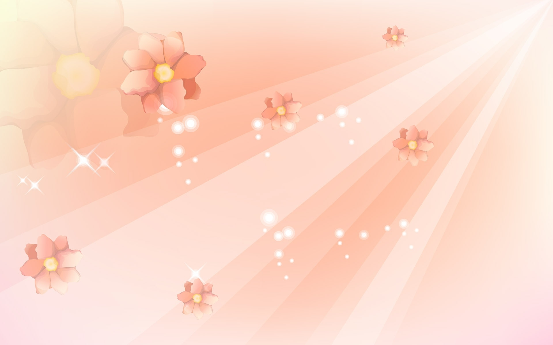 Bright Pink Flowers Background Wallpaper 1920x1200 22664