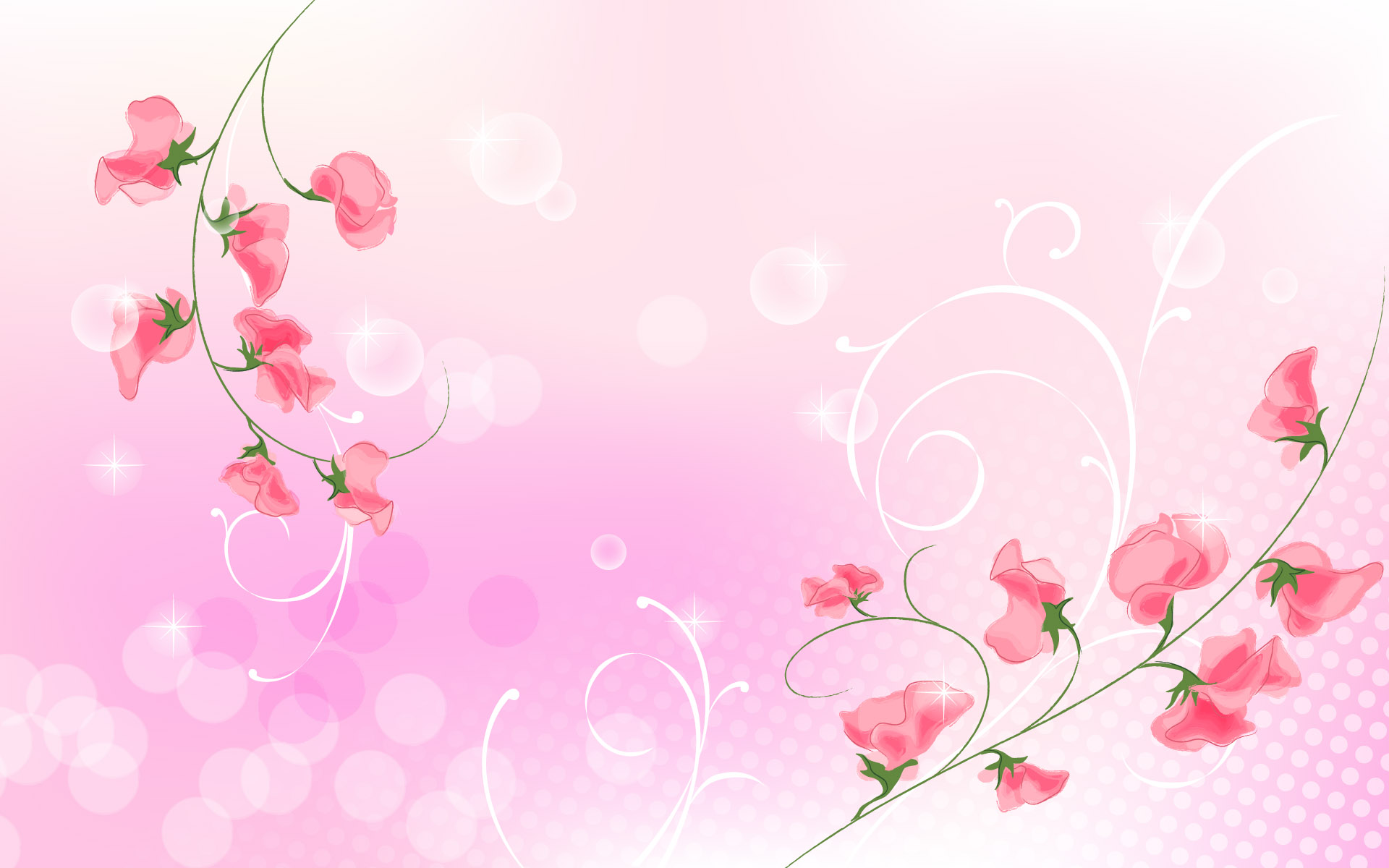 The two branches of the flower are red, and background is light pink, they two are such a fit.
