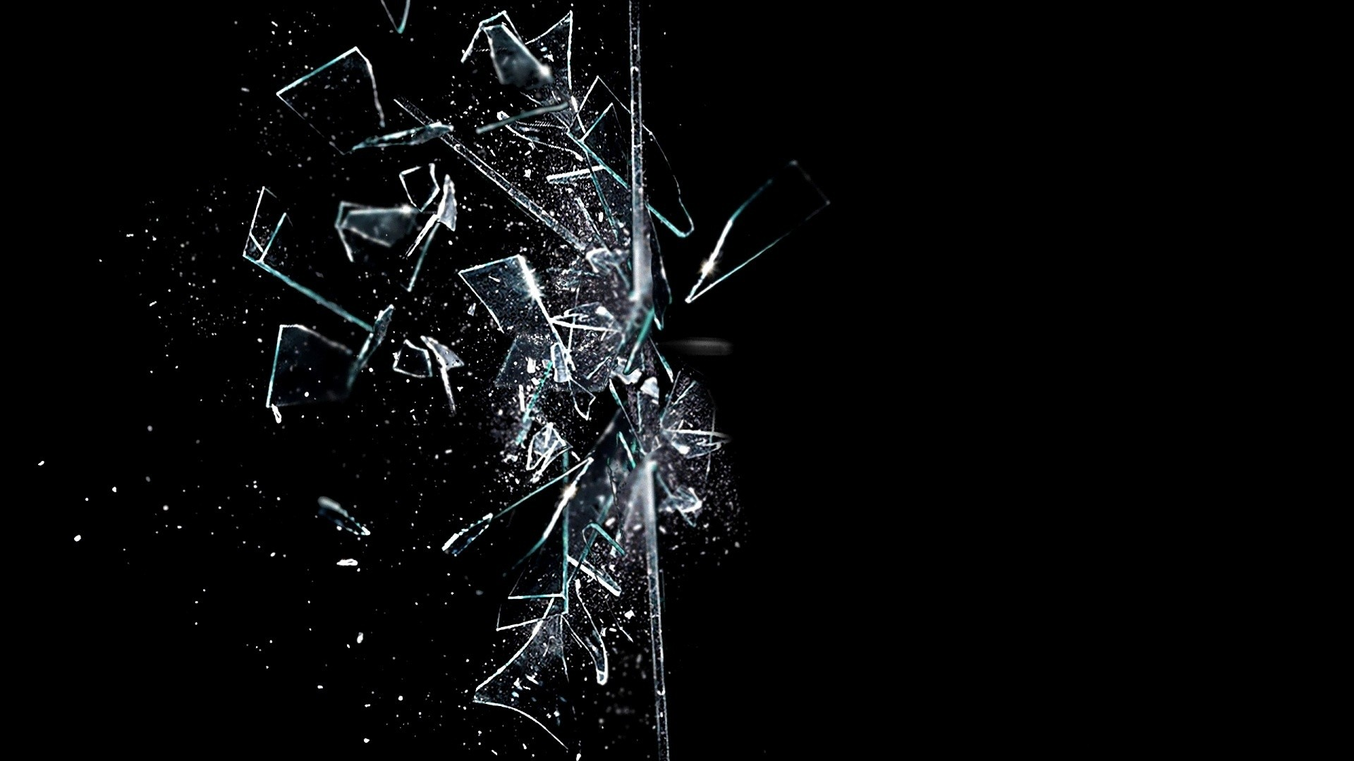 Free Broken Glass Wallpaper