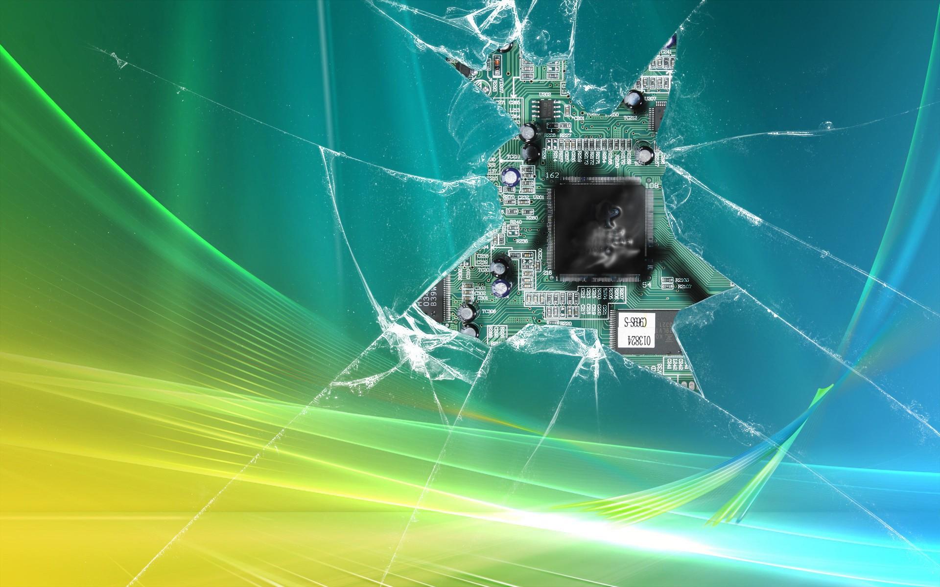 Broken Glass Wallpaper 3209