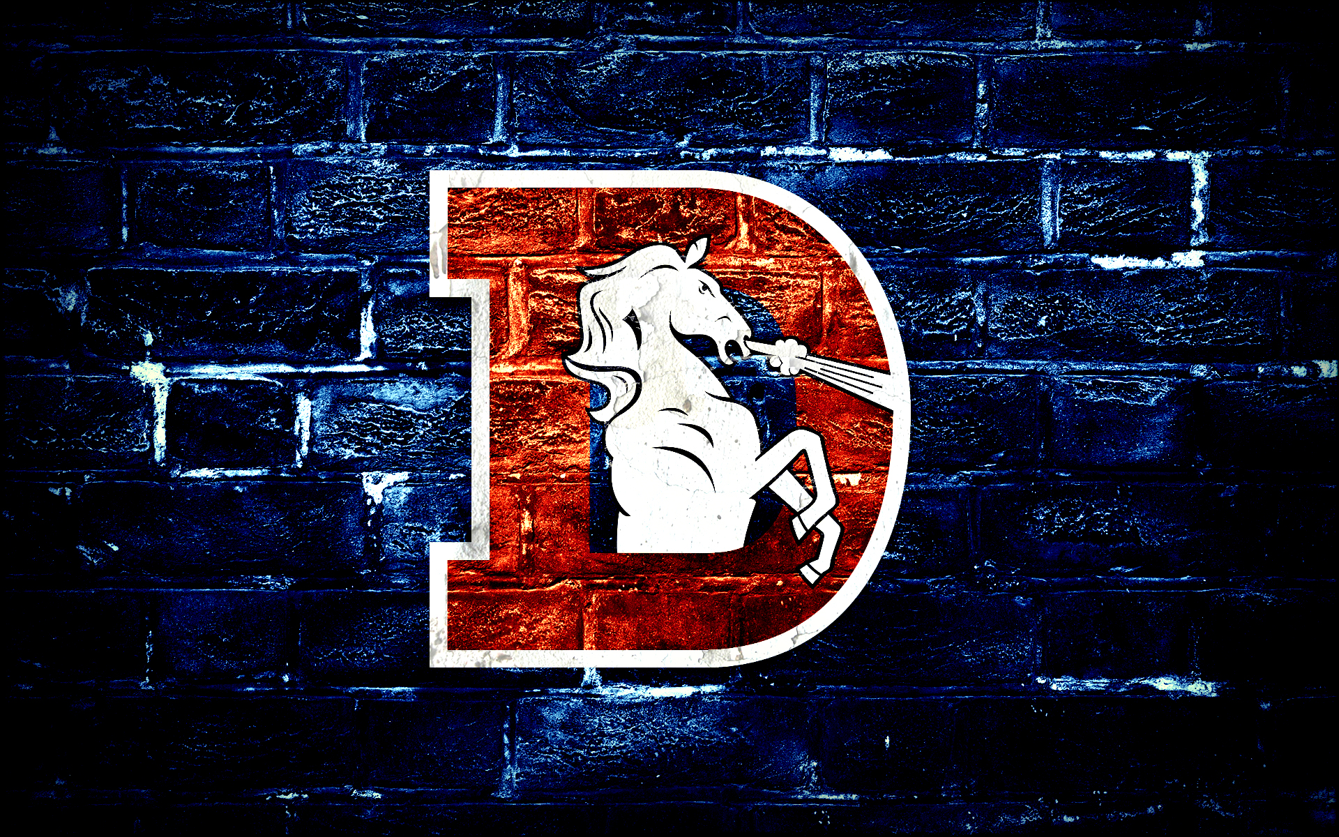 Denver Broncos D Logo Wallpaper by DenverSportsWalls