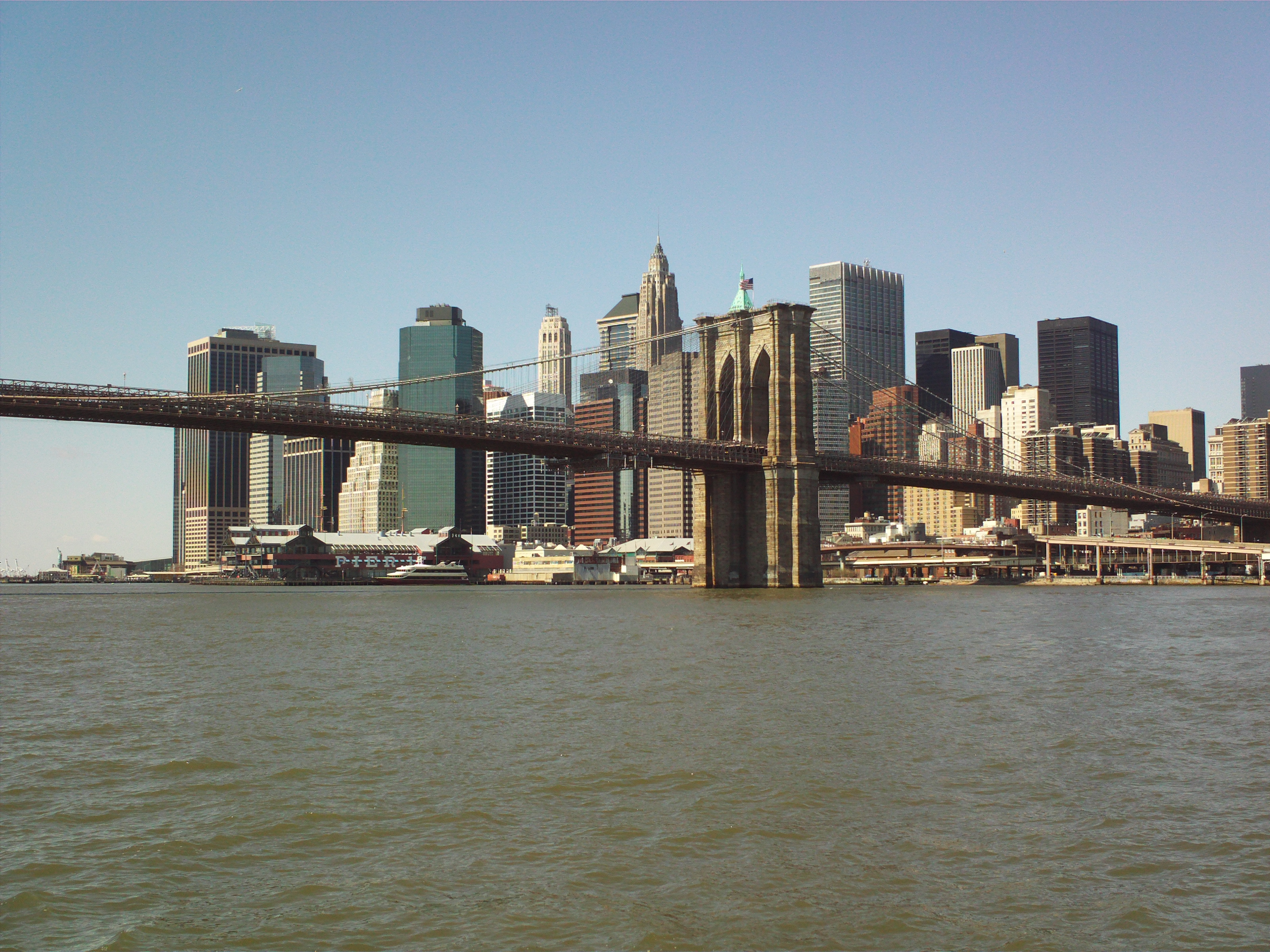 File:Brooklyn bridge and Manhattan.JPG
