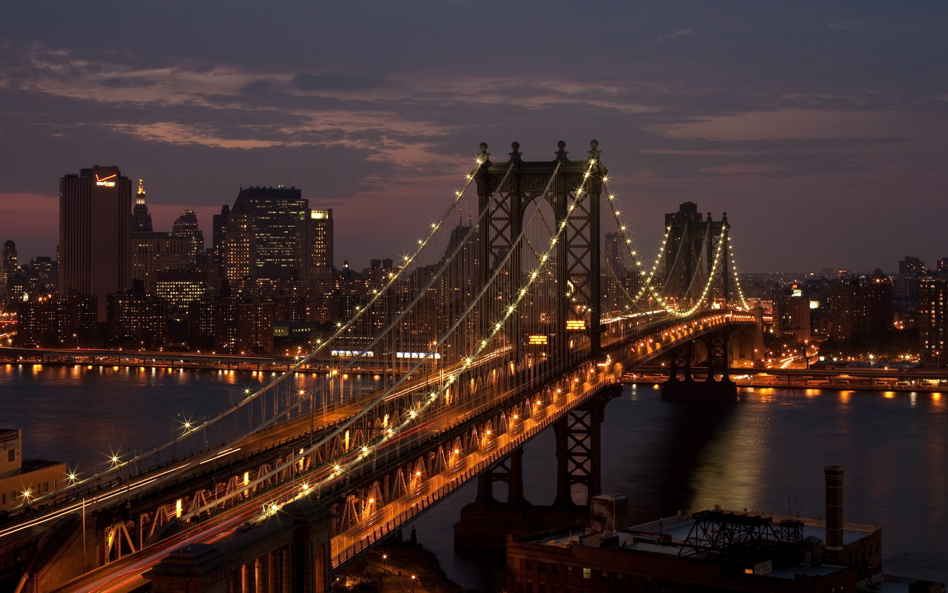Brooklyn bridge manhattan night