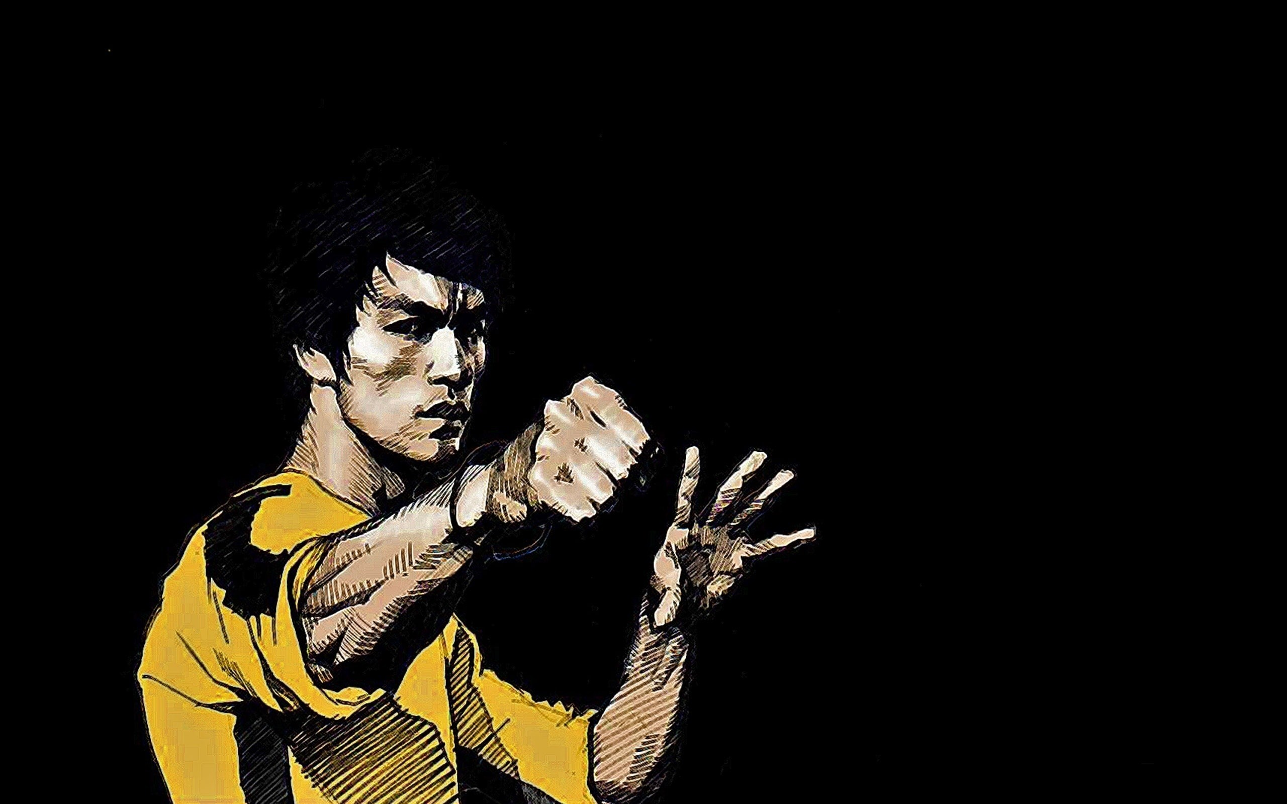 Bruce Lee Drawing Art