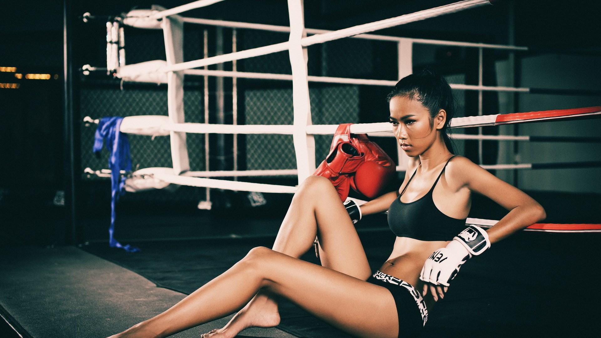 Brunette Girl Sport