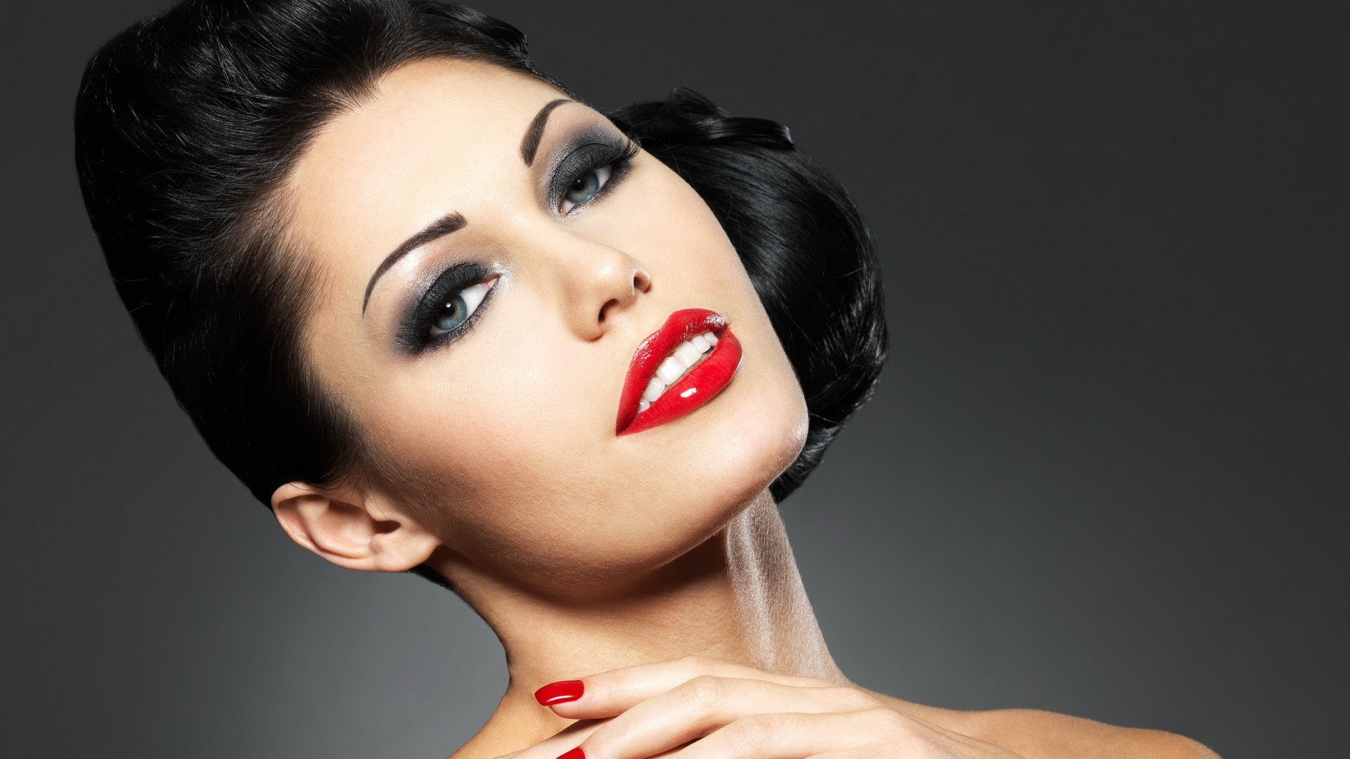 Makeup Brunette Woman