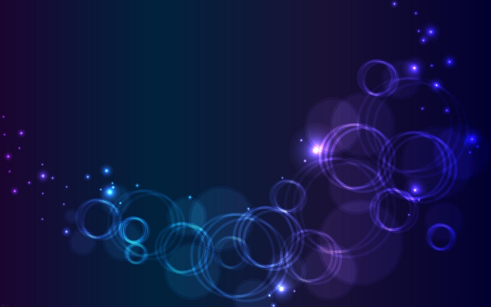 Glowing Bubbles Wallpaper