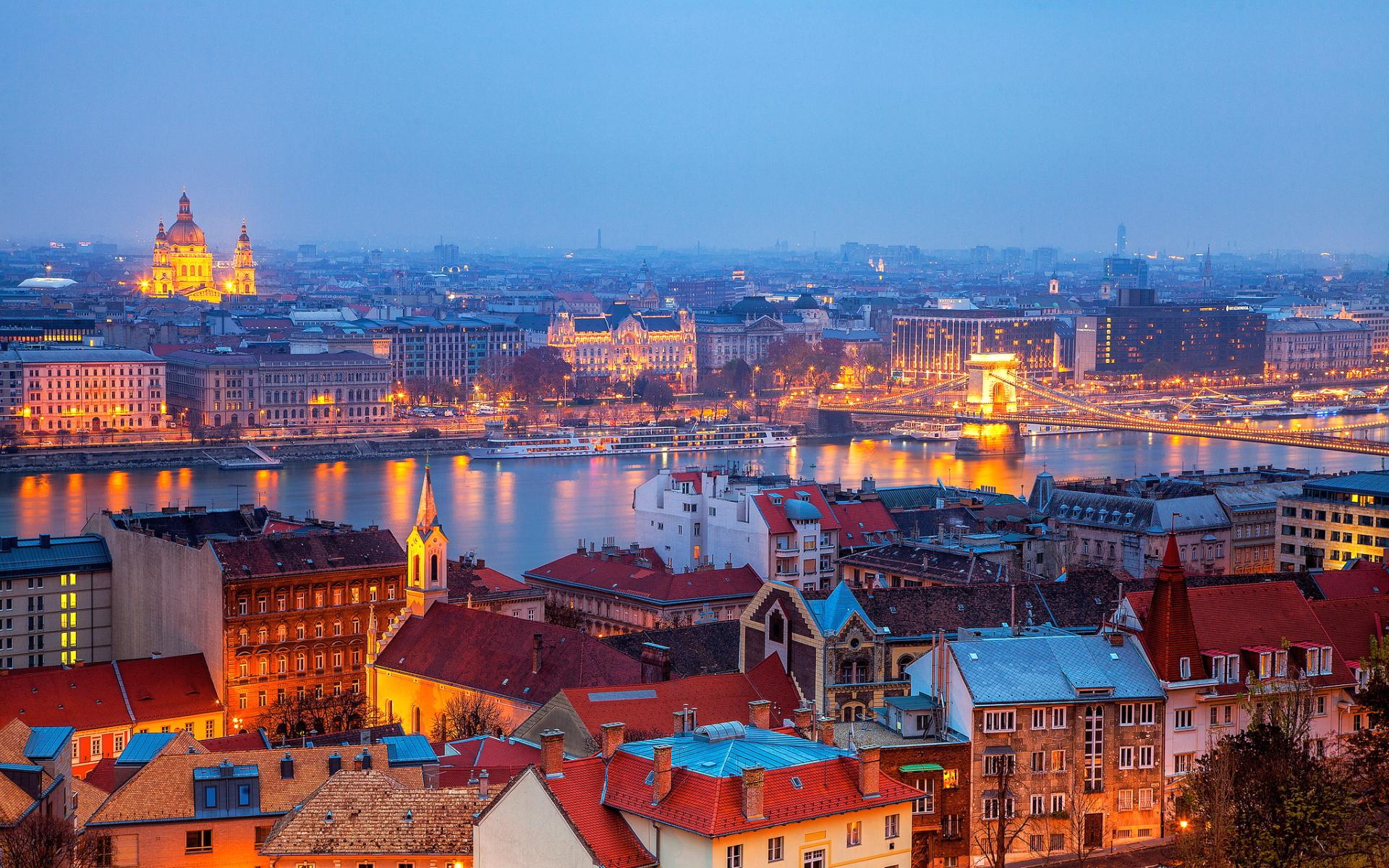 Budapest evening hungary