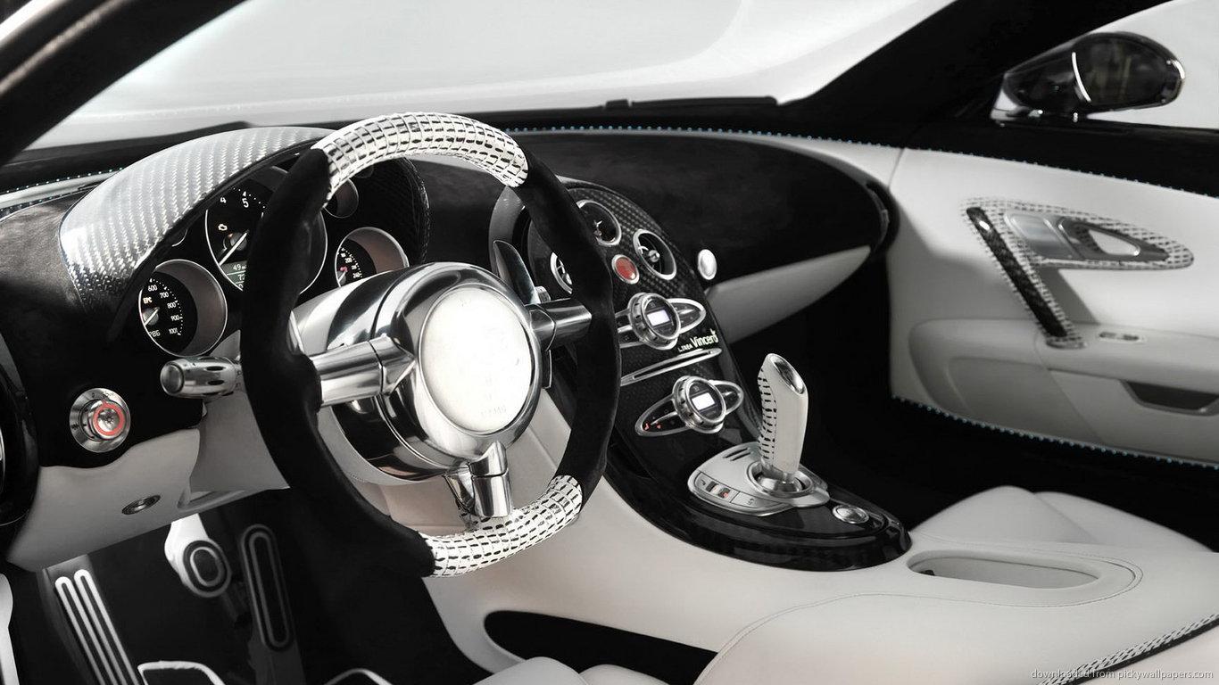 ... Bugatti Veyron Mansory interior for 1366x768