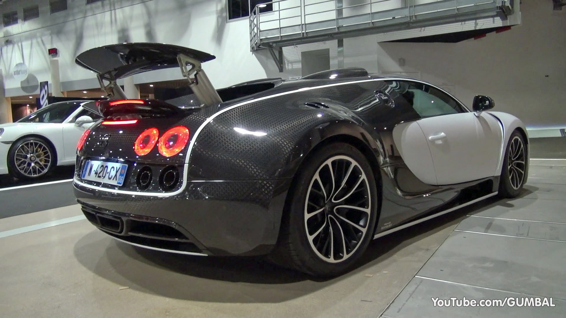 $3.5 Million Bugatti Veyron 16.4 Mansory Vivere - Start up + Driving Sound!