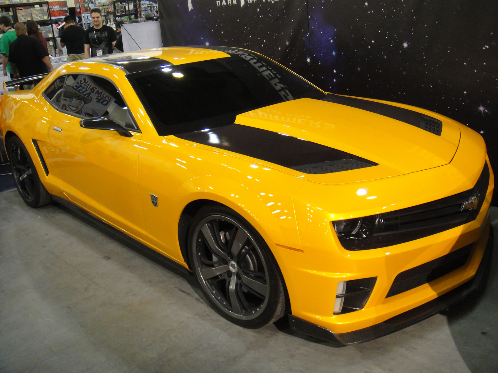 Bumblebee depicted as a 1975 Camaro and four different iterations of a fifth-generation Camaro with the below version being the production version that ...