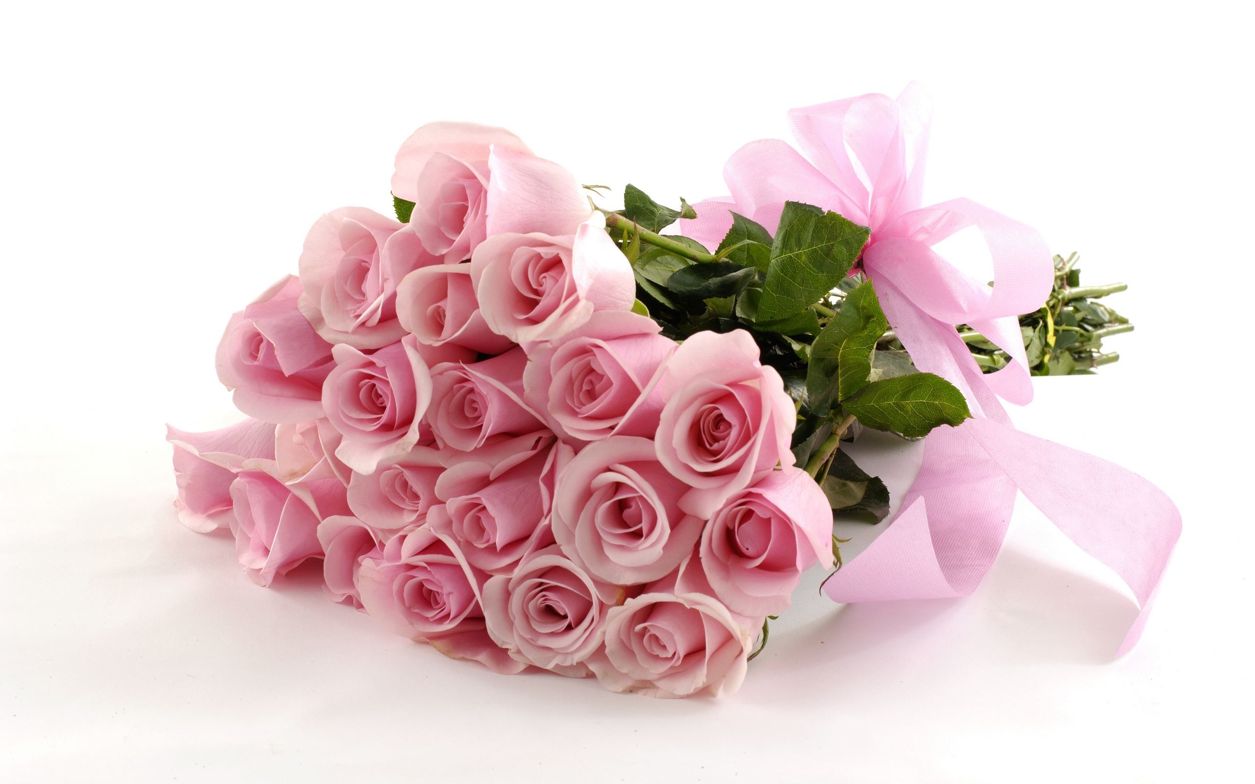 Bunch pink Roses