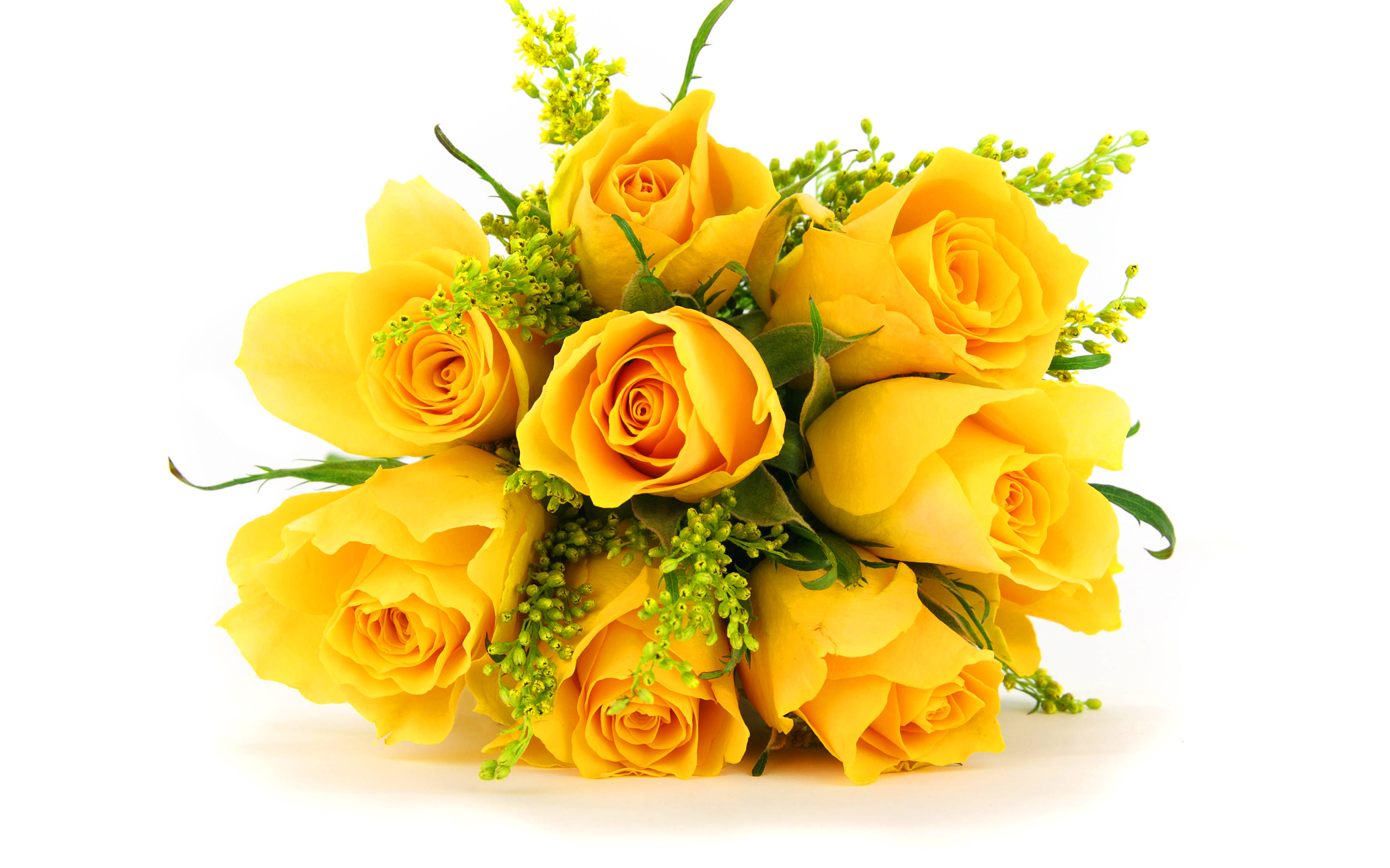 Bunch yellow roses
