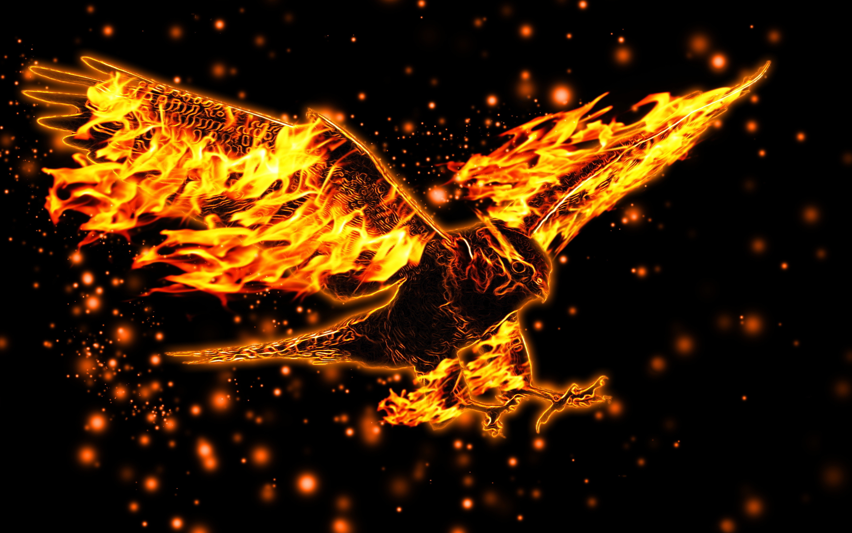 Burning eagle
