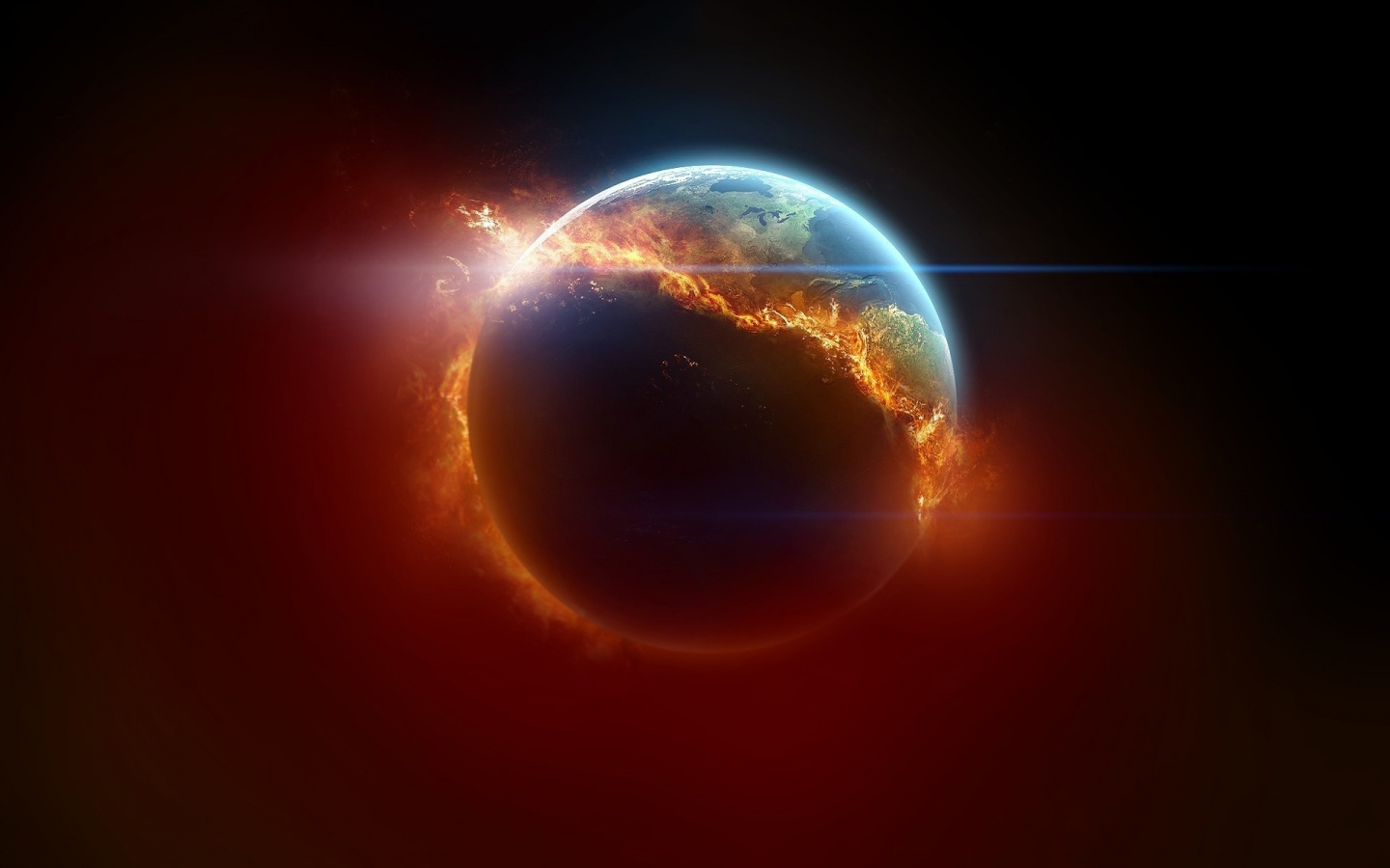 Burning Earth Art Wallpaper in 1440x900 Widescreen