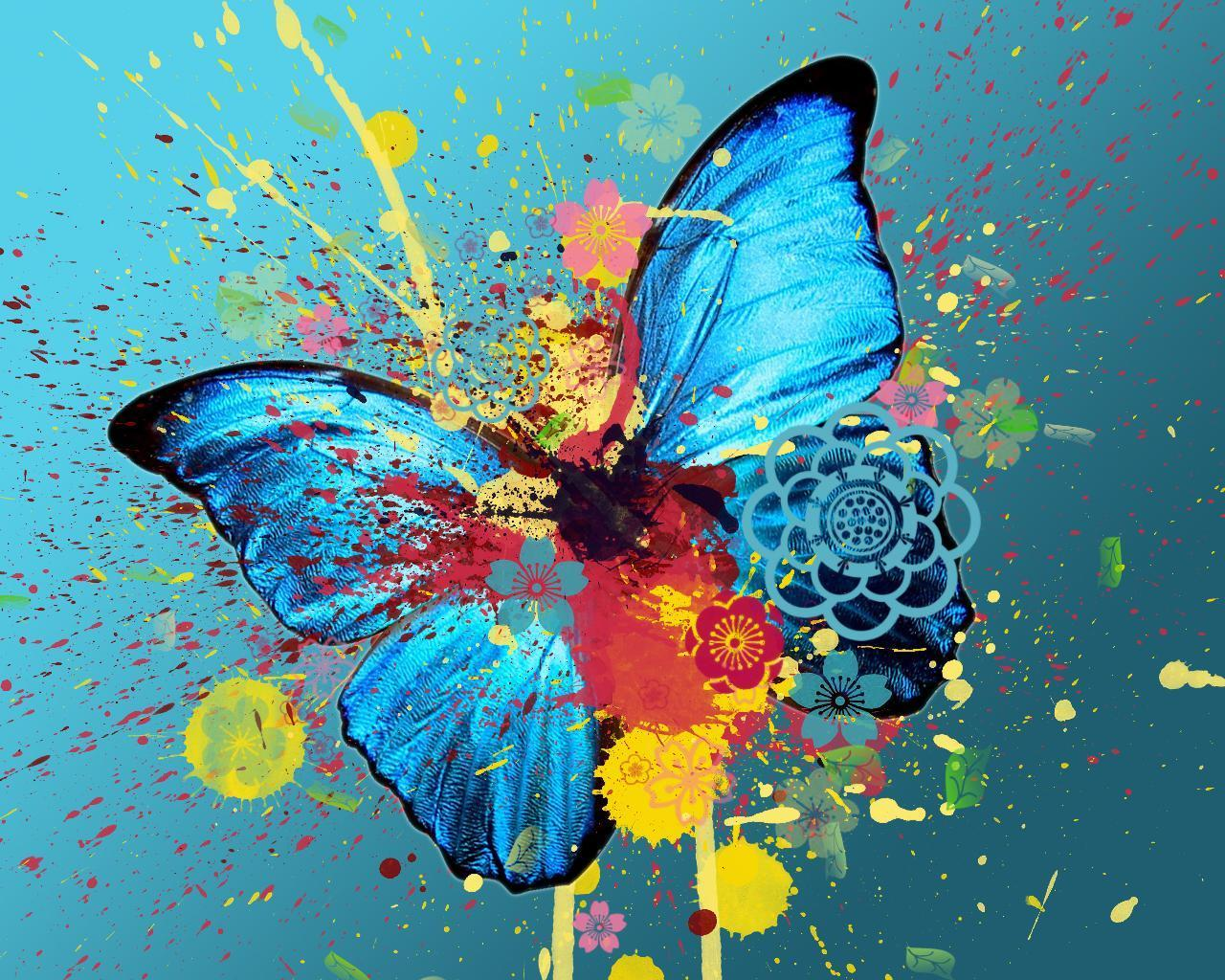 butterfly - art-and-pictures Wallpaper
