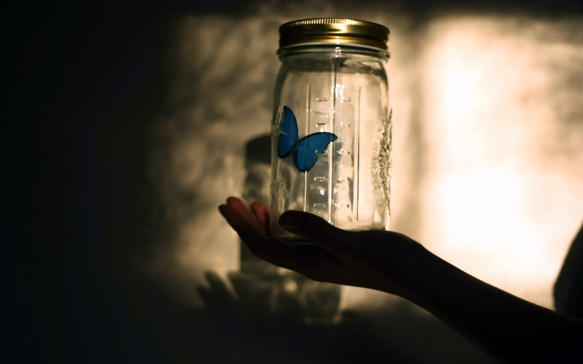 Butterfly Blue Jar