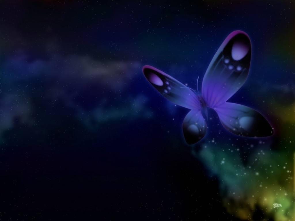 ... Purple Butterfly Wallpaper ...