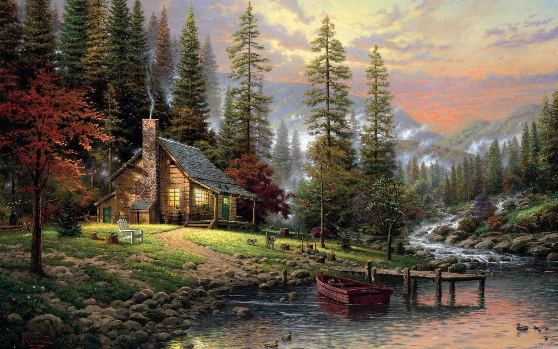 Download Full HD Wallpapers absolutely free for your pc desktop, laptop and mobile devices. Mountain Cabin Wallpaper