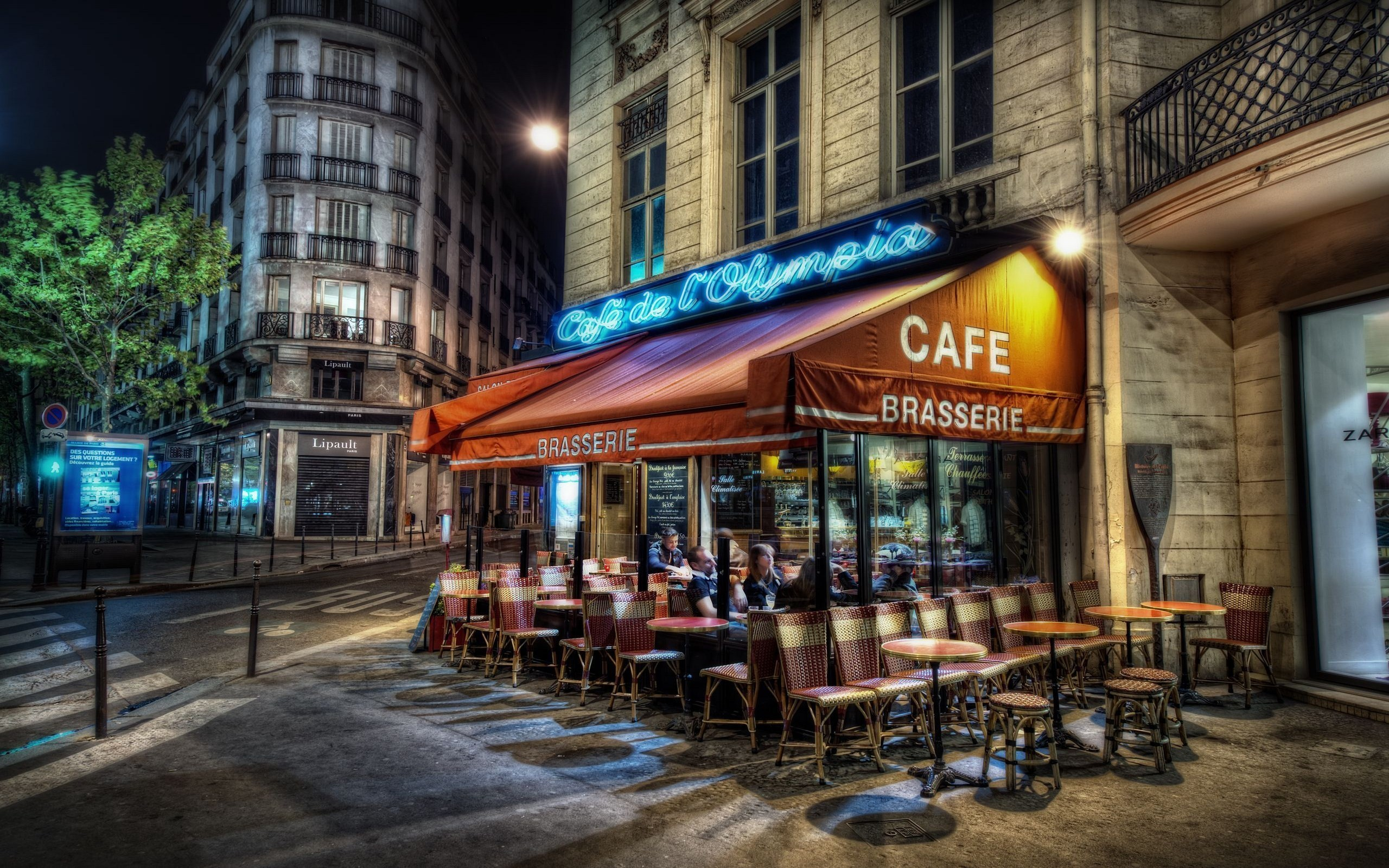 Neon Cafe You are viewing a Scenic Wallpaper