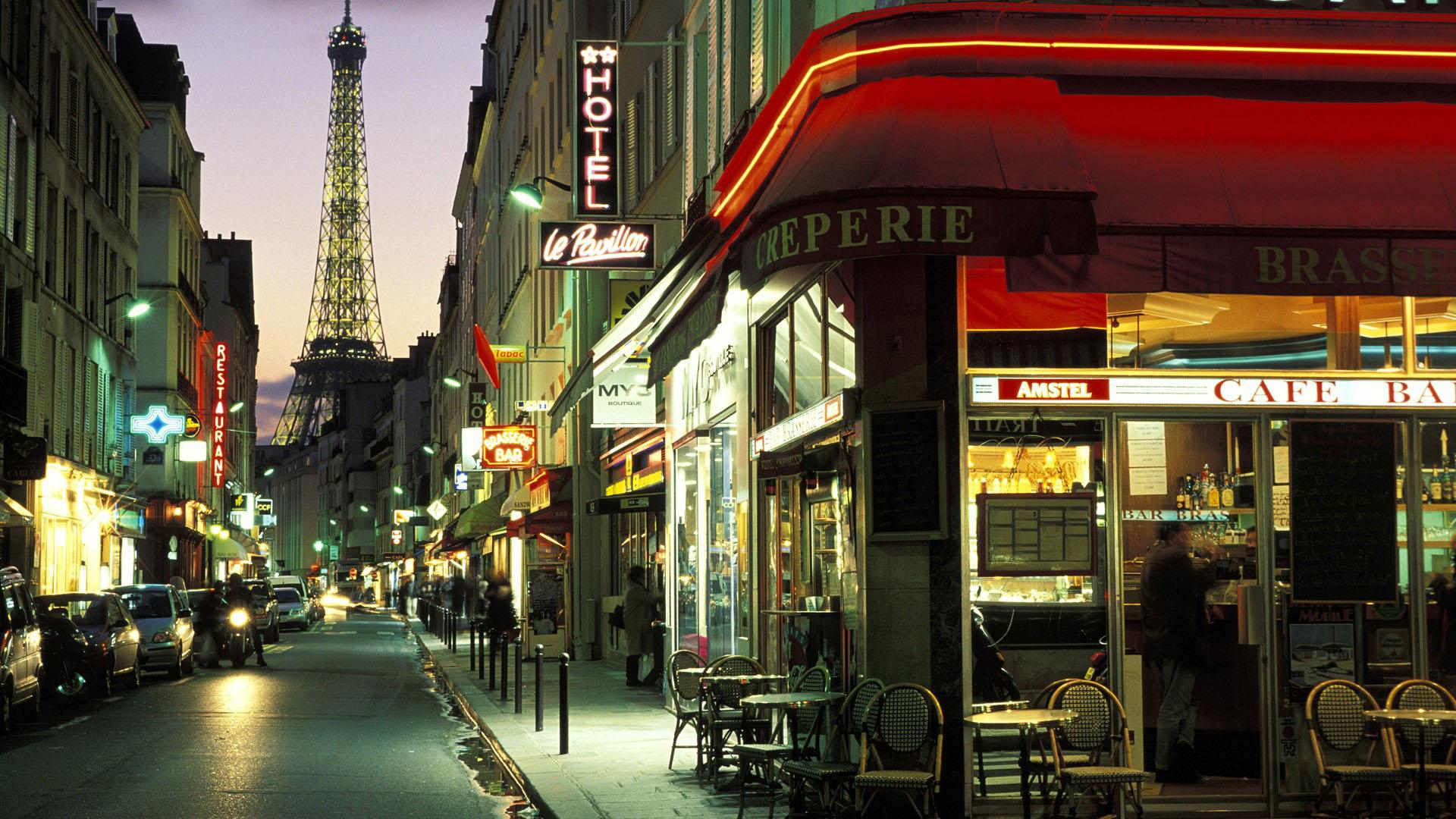 Paris Cafe Wallpaper