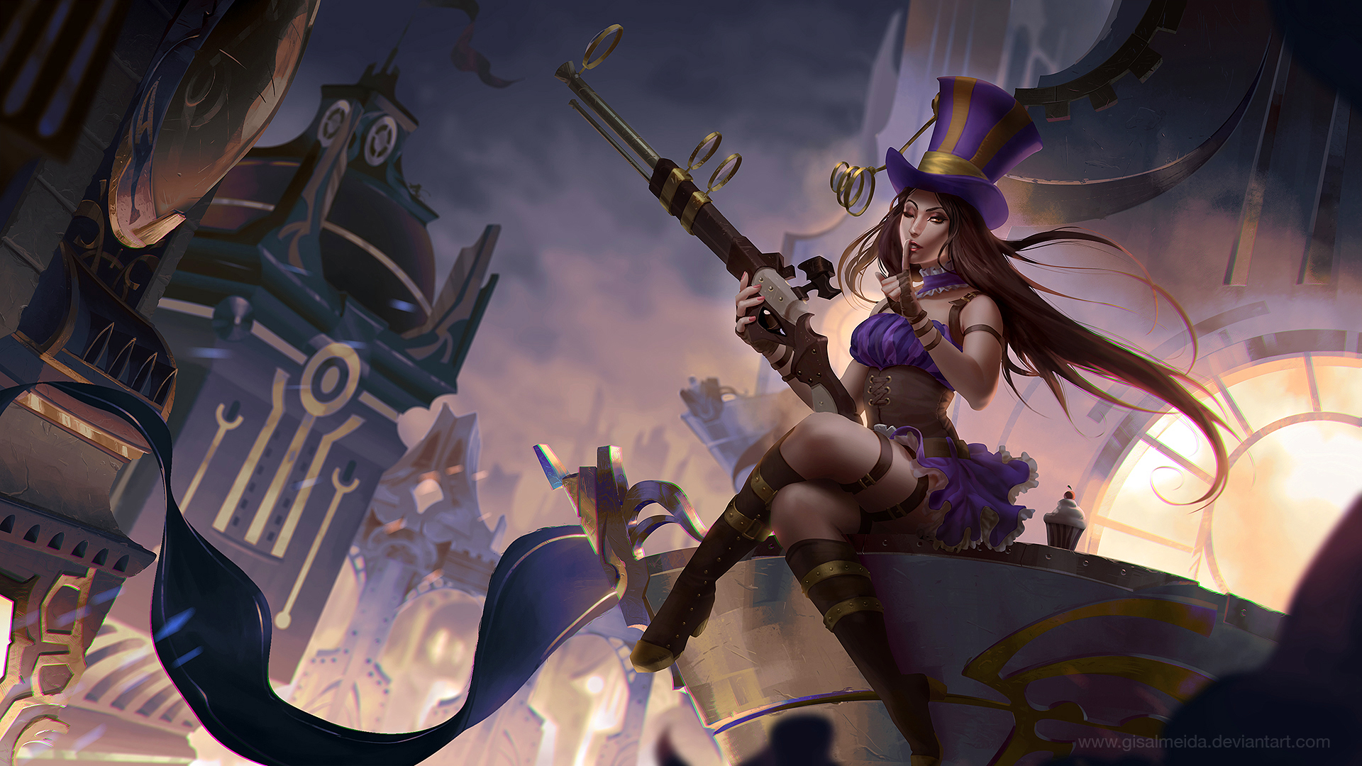 ... League of Legends: Caitlyn by GisAlmeida