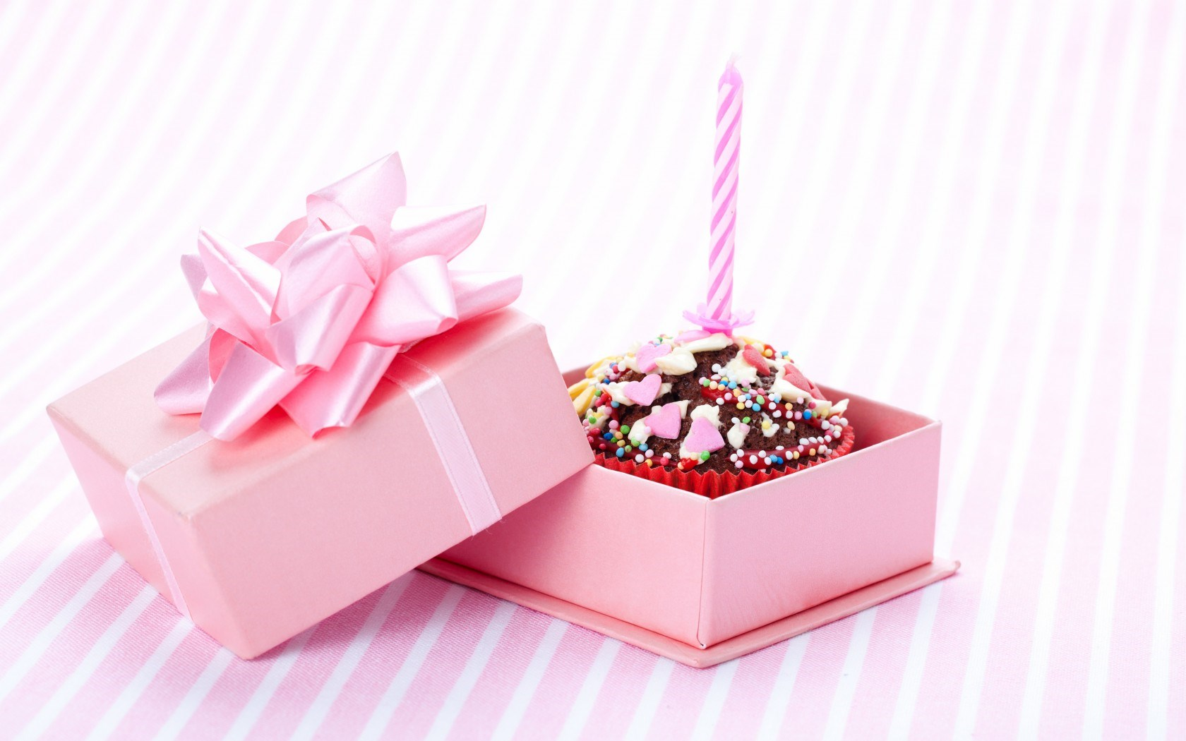 Cake Birthday Candle Box Gift wallpaper 1680x1050 #23946
